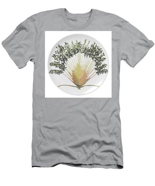 Men's T-Shirt (Slim Fit) featuring the digital art Travelers Palm Plate by R  Allen Swezey