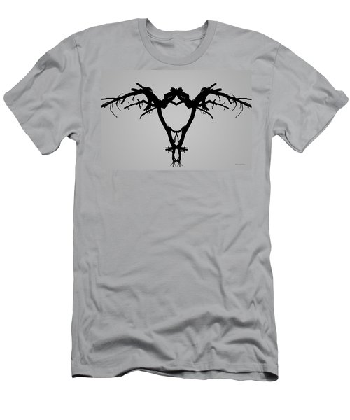 Men's T-Shirt (Athletic Fit) featuring the photograph Tree Bird I Bw by David Gordon