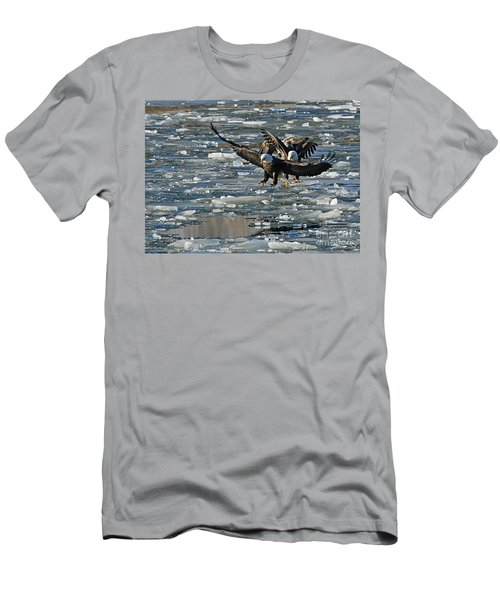 Tree Eagles On Ice Men's T-Shirt (Athletic Fit)