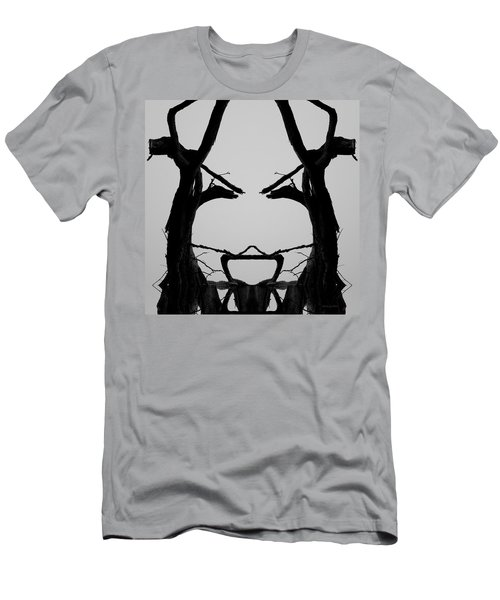 Tree Face I Bw Sq Men's T-Shirt (Athletic Fit)