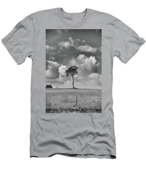 Men's T-Shirt (Athletic Fit) featuring the photograph Tree In A Field by Guy Whiteley