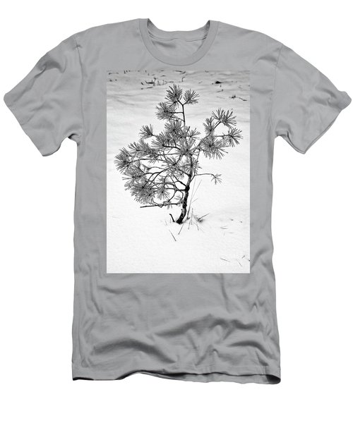 Tree In Winter Men's T-Shirt (Athletic Fit)