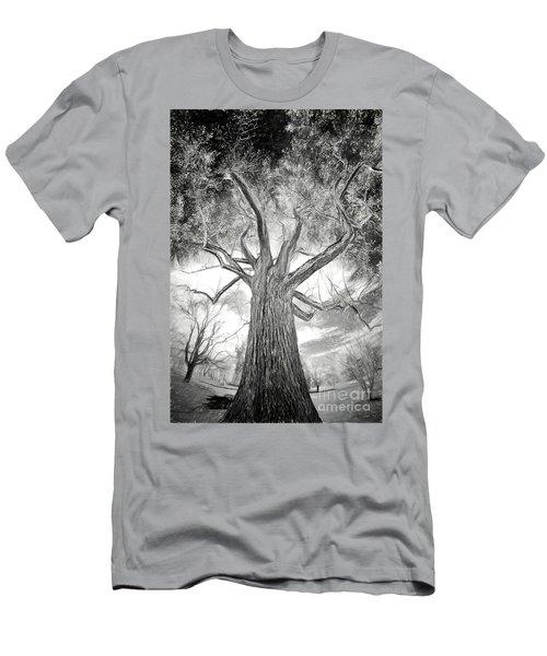 Tree Monster Bw Ap Men's T-Shirt (Athletic Fit)