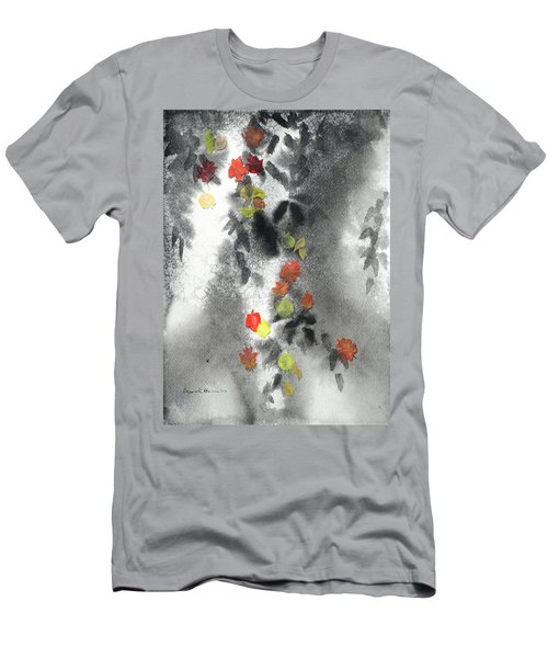 Tree Shadows And Fall Leaves Men's T-Shirt (Athletic Fit)