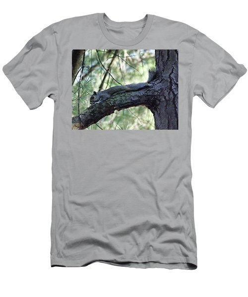 Men's T-Shirt (Slim Fit) featuring the photograph  Tree Squirrel by B Wayne Mullins