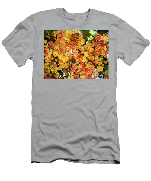 Trees And Flowers In Hawaii Men's T-Shirt (Athletic Fit)