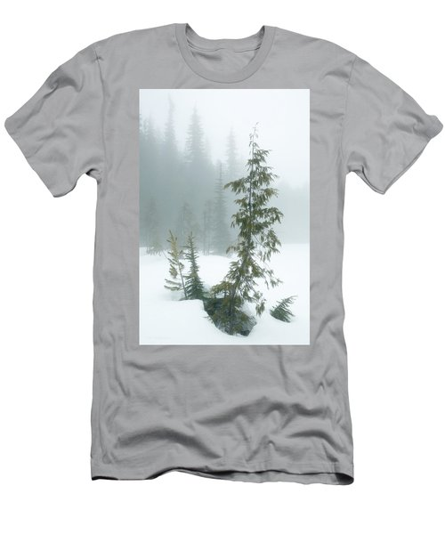 Men's T-Shirt (Athletic Fit) featuring the photograph Trees In Fog by Tim Newton