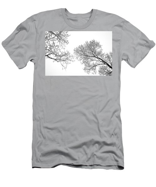 Men's T-Shirt (Slim Fit) featuring the photograph Trees Reaching by Marilyn Hunt