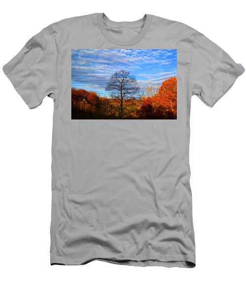 Men's T-Shirt (Slim Fit) featuring the photograph Treetops Sunrise by Kathryn Meyer