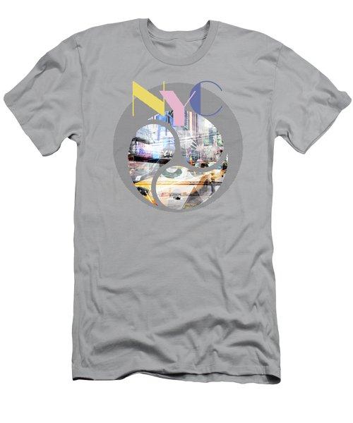 Trendy Design New York City Geometric Mix No 1 Men's T-Shirt (Athletic Fit)