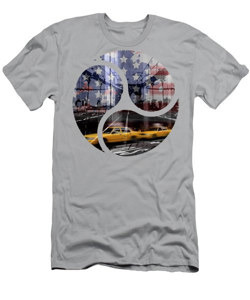 Trendy Design Nyc Composing Men's T-Shirt (Slim Fit) by Melanie Viola