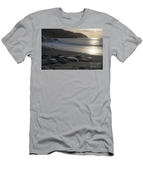 Men's T-Shirt (Slim Fit) featuring the photograph Photographs Of Cornwall Trevellas Cove Cornwall by Brian Roscorla