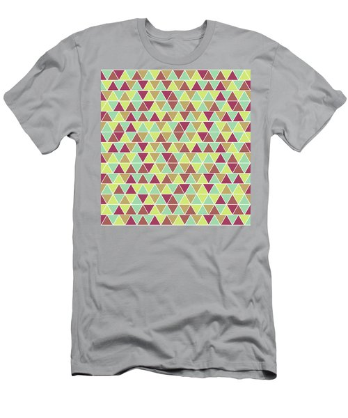 Triangular Geometric Pattern - Warm Colors 03 Men's T-Shirt (Athletic Fit)