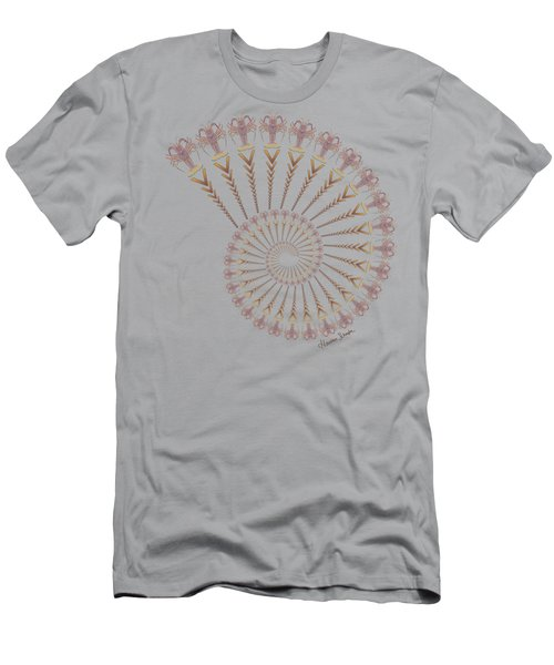 Tribal Caribbean Lobster Spiral Shell Men's T-Shirt (Athletic Fit)