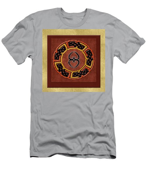 Men's T-Shirt (Slim Fit) featuring the painting Tribal Celt Asase Ye Duru Mother Earth Symbol by Kandy Hurley