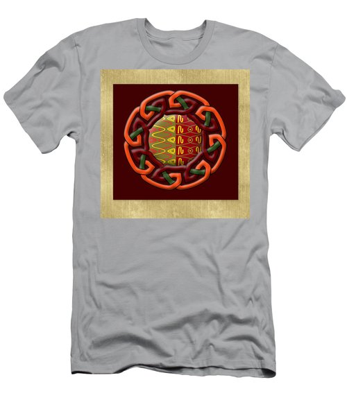 Men's T-Shirt (Slim Fit) featuring the painting Tribal Celt Earthiness by Kandy Hurley