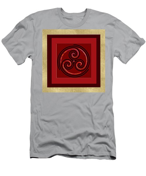 Men's T-Shirt (Slim Fit) featuring the painting Tribal Celt Triple Spiral by Kandy Hurley