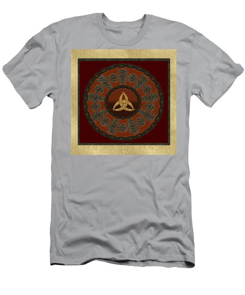 Men's T-Shirt (Slim Fit) featuring the painting Tribal Celt Triquetra Symbol by Kandy Hurley
