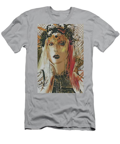 Tribal Rust Portrait Men's T-Shirt (Athletic Fit)