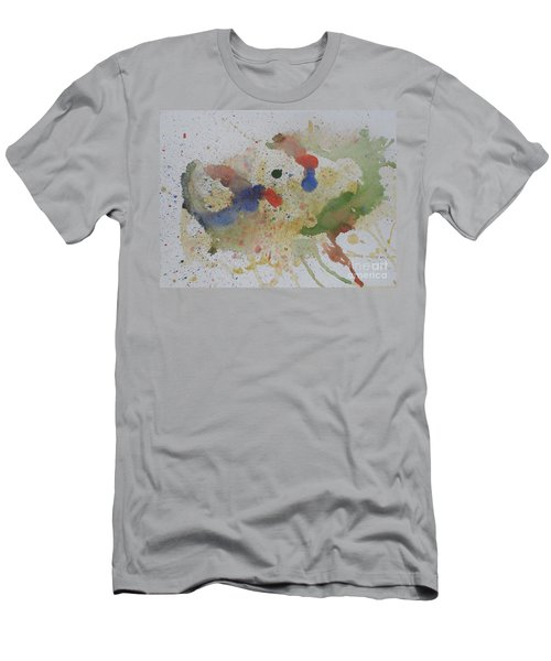 Men's T-Shirt (Slim Fit) featuring the painting Triple Rooster Race by Vicki  Housel