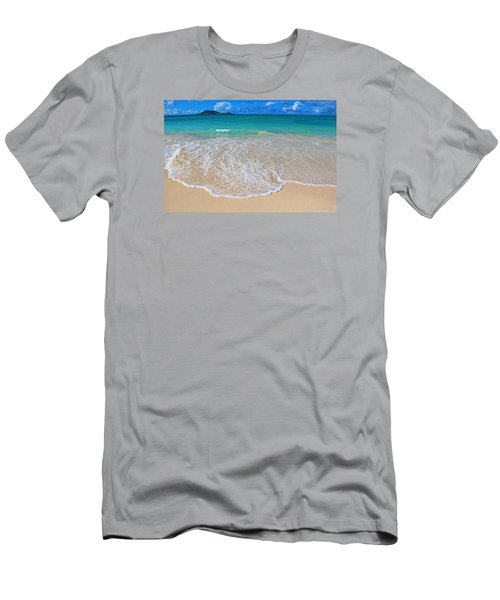 Tropical Hawaiian Shore Men's T-Shirt (Slim Fit) by Kerri Ligatich