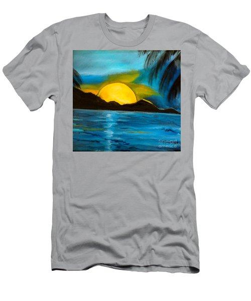 Tropical Moonshine Men's T-Shirt (Slim Fit) by Jenny Lee