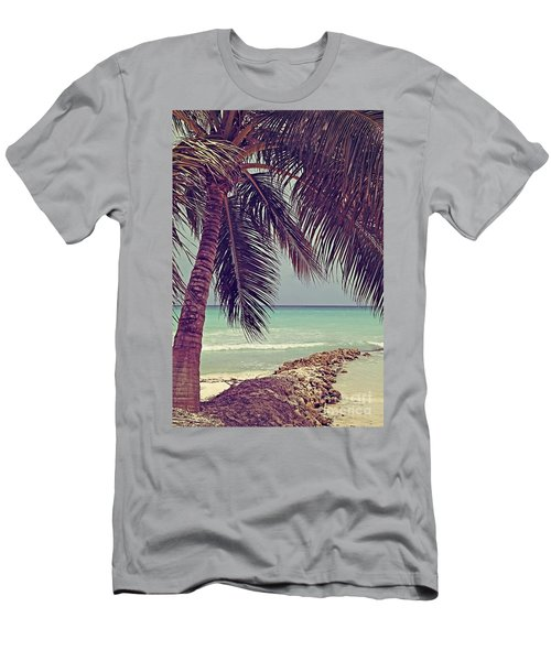 Tropical Ocean View Men's T-Shirt (Athletic Fit)