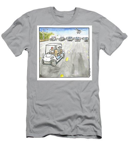 Trump Flees Men's T-Shirt (Athletic Fit)