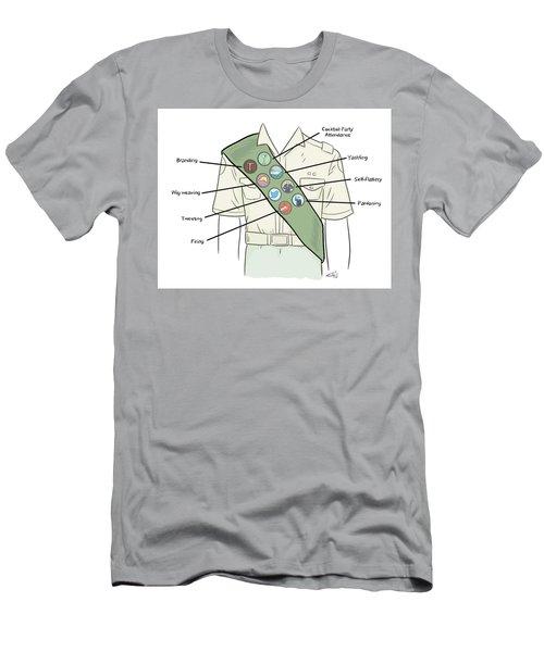 Trump Merit Badges Men's T-Shirt (Athletic Fit)