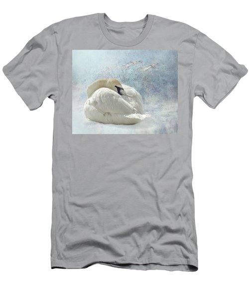 Trumpeter Textures #1 - Swan Feather Men's T-Shirt (Athletic Fit)