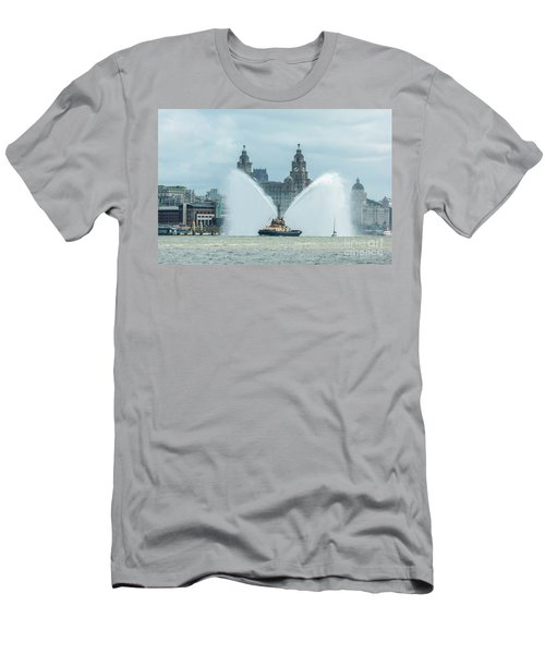 Tug Boat Fountain Men's T-Shirt (Athletic Fit)
