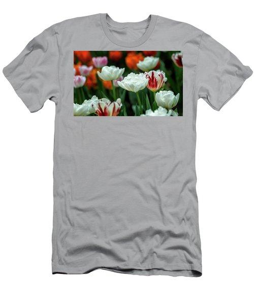 Tulip Flowers Men's T-Shirt (Athletic Fit)
