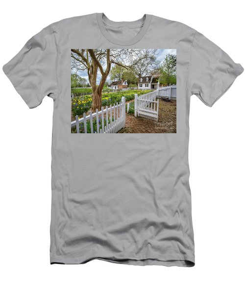 Tulip Garden Colonial Williamsburg  Men's T-Shirt (Athletic Fit)