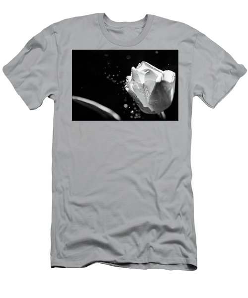 Tulip On A Rainy Day Men's T-Shirt (Athletic Fit)
