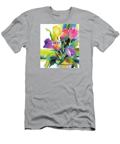 Tulip Pot Men's T-Shirt (Athletic Fit)