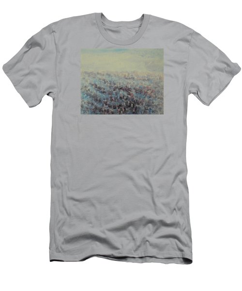 Tulips Dance Abstract 3 Men's T-Shirt (Slim Fit) by Jane See
