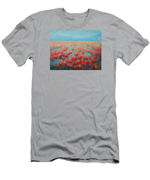 Tulips Dance Abstract 4 Men's T-Shirt (Slim Fit) by Jane See