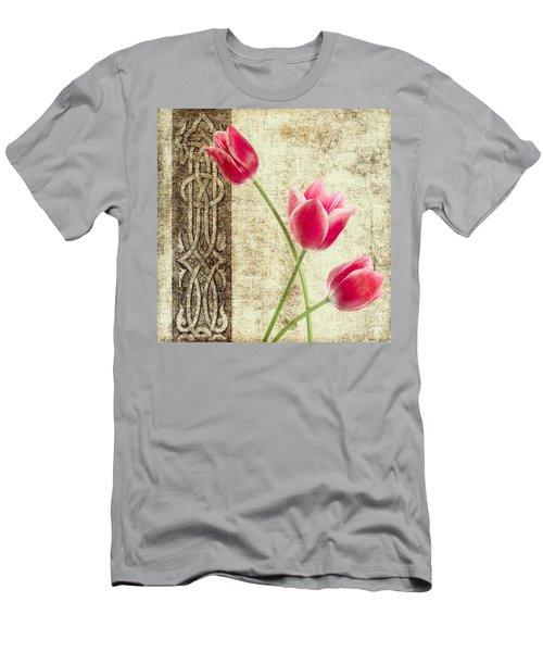 Tulips Vintage  Men's T-Shirt (Athletic Fit)