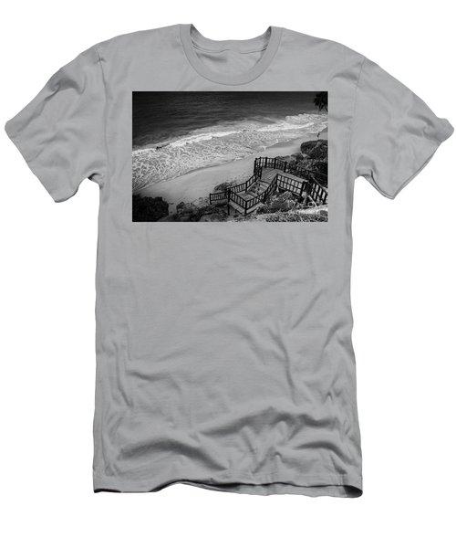 Tulum Beach Men's T-Shirt (Slim Fit) by Ana Mireles