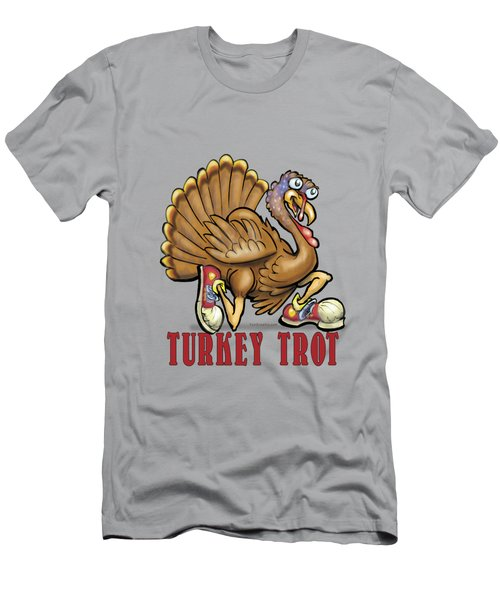 Turkey Trot Men's T-Shirt (Slim Fit) by Kevin Middleton