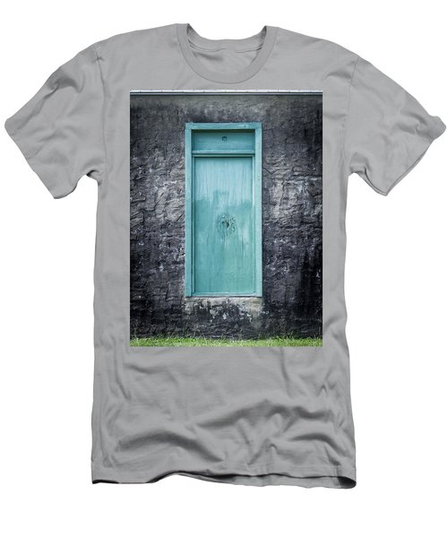 Turquoise Door Men's T-Shirt (Athletic Fit)