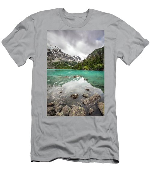 Turquoise Lake In The Mountains Men's T-Shirt (Slim Fit) by Pierre Leclerc Photography