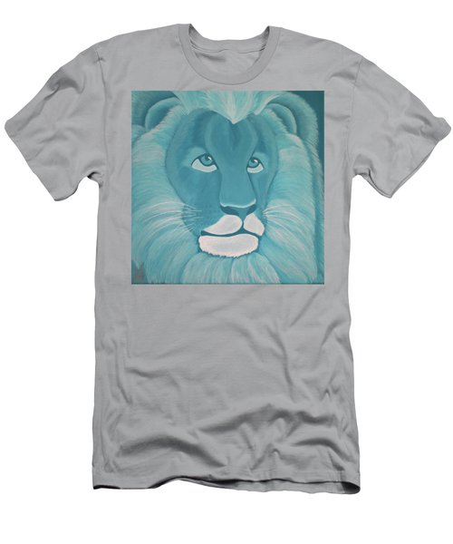Turquoise Lion Men's T-Shirt (Athletic Fit)