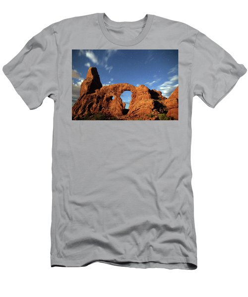 Turret Arch In The Moonlight Men's T-Shirt (Athletic Fit)
