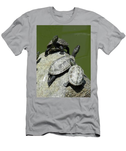 Turtles At A Temple In Narita, Japan Men's T-Shirt (Slim Fit) by Breck Bartholomew