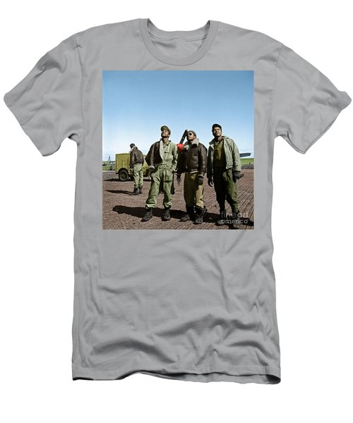 Men's T-Shirt (Athletic Fit) featuring the photograph Tuskegee Airmen by Granger