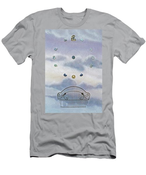Men's T-Shirt (Slim Fit) featuring the painting Twelve by Laurie Stewart