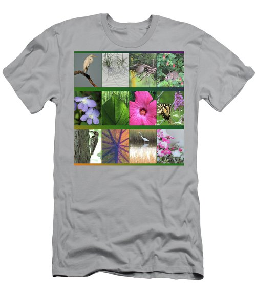 Men's T-Shirt (Slim Fit) featuring the photograph Twelve Months Of Nature by Peg Toliver