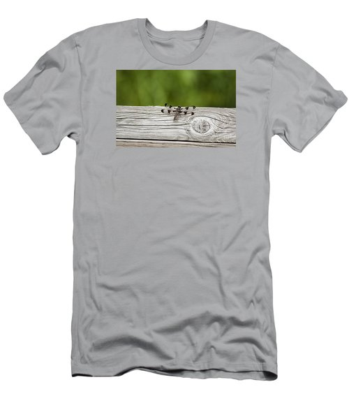 Twelve Spotted-skimmer 20120703_213a Men's T-Shirt (Slim Fit) by Tina Hopkins