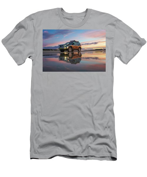 Twilight Beach Reflections And 4wd Car Men's T-Shirt (Athletic Fit)